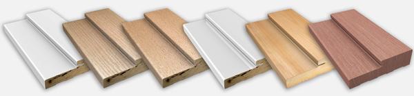 Many varieties of door jambs