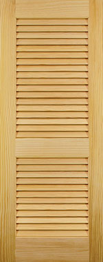 Paintable or Stainable Wood Louver Door