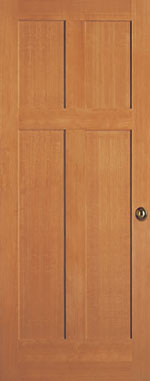 Paintable or Stainable Wood Shaker Door