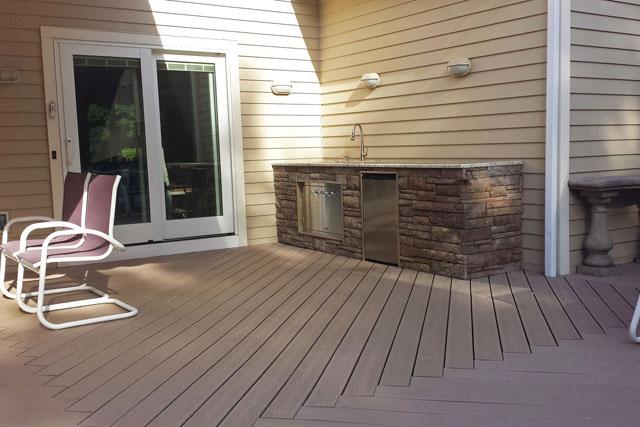 New Trex Deck & Cooking Stations in Longmeadow, MA