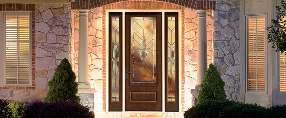 Fiberglass Therma-Tru Entry Doors - Classic-Craft Mahogany
