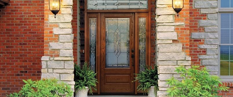 Fiberglass Therma-Tru Entry Doors - Oak