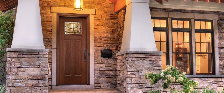 Fiberglass Therma-Tru Entry Doors - Mahogany