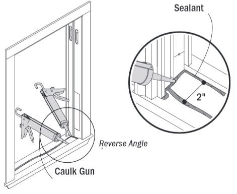 apply sealant