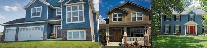 Blue and green siding colors