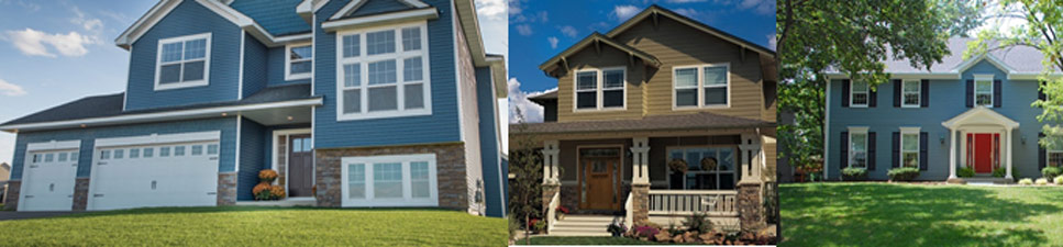 Green and blue siding colors
