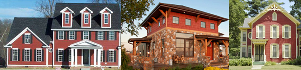 siding colors, red