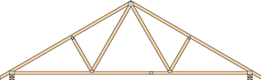 Common roof truss