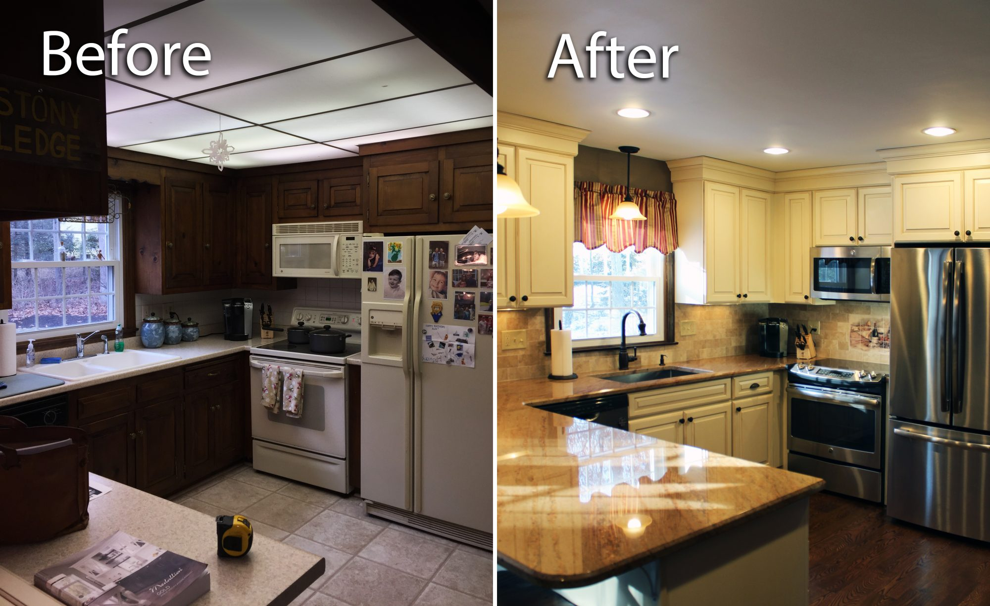 Enfield Handyman Services remodels a kitchen in Somers, CT