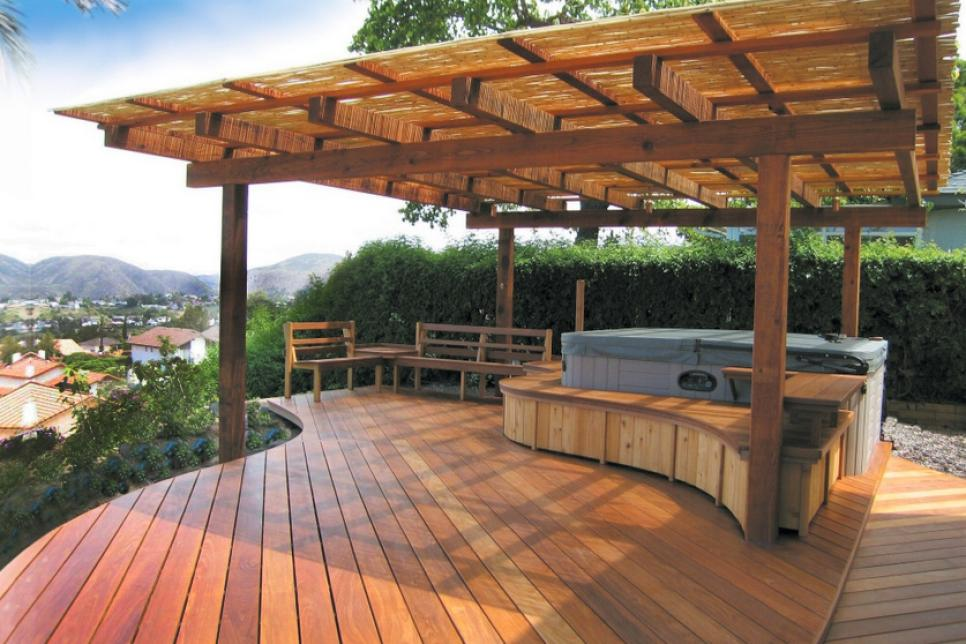 9 cool deck designs that add seating hot tub