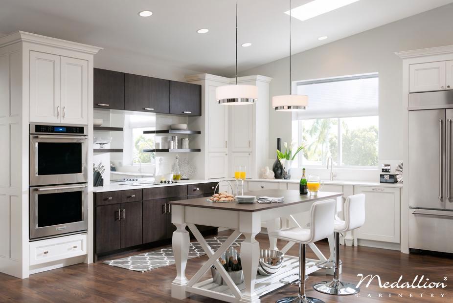 Create a Modern Kitchen with Dark Kitchen Cabinets Bold Constrast