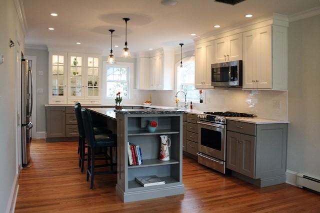 Create A Modern Kitchen With Dark Kitchen Cabinets Dark Bottom Light Top Kelly Fradet