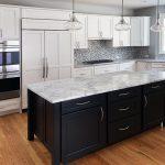 Create a Modern Kitchen with Dark Kitchen Cabinets Mixed materials