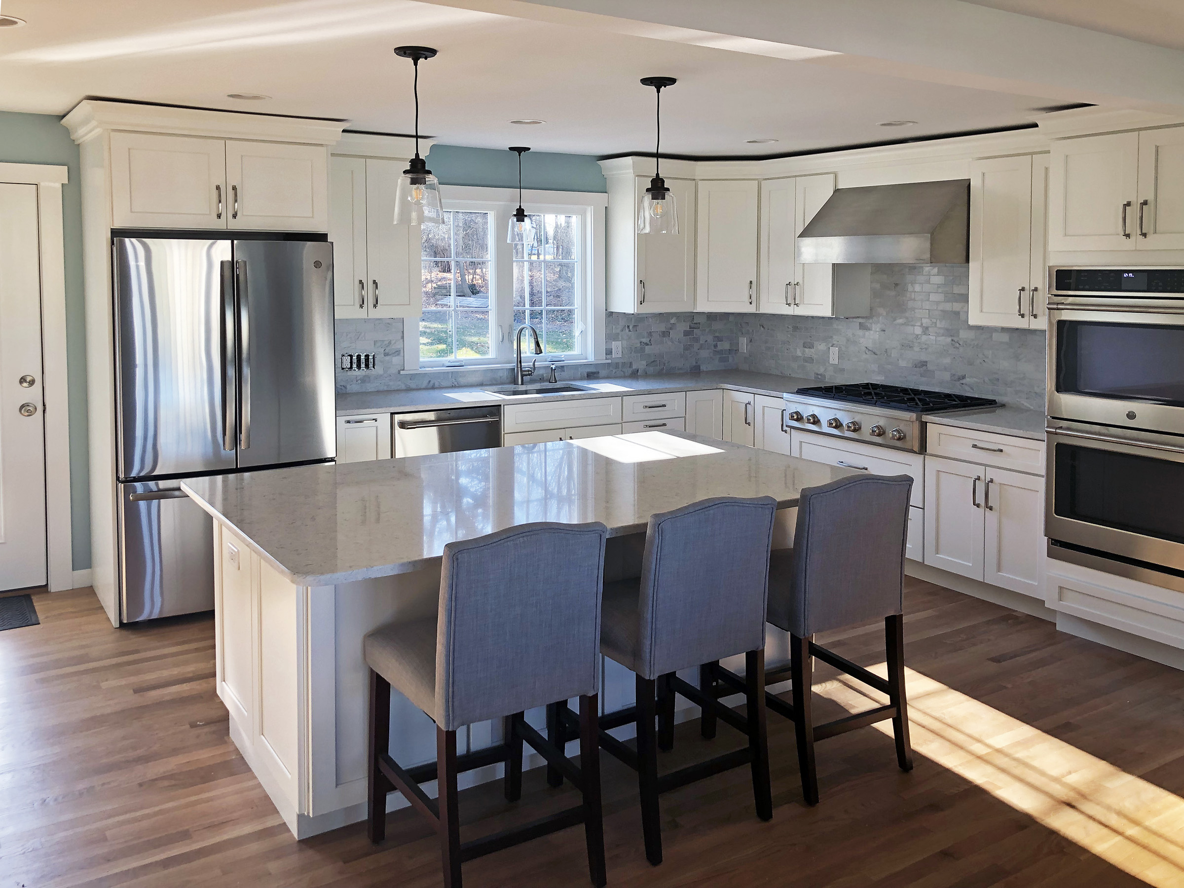 Residential Woodcrafts, Inc build a Medallion kitchen in Suffield, CT