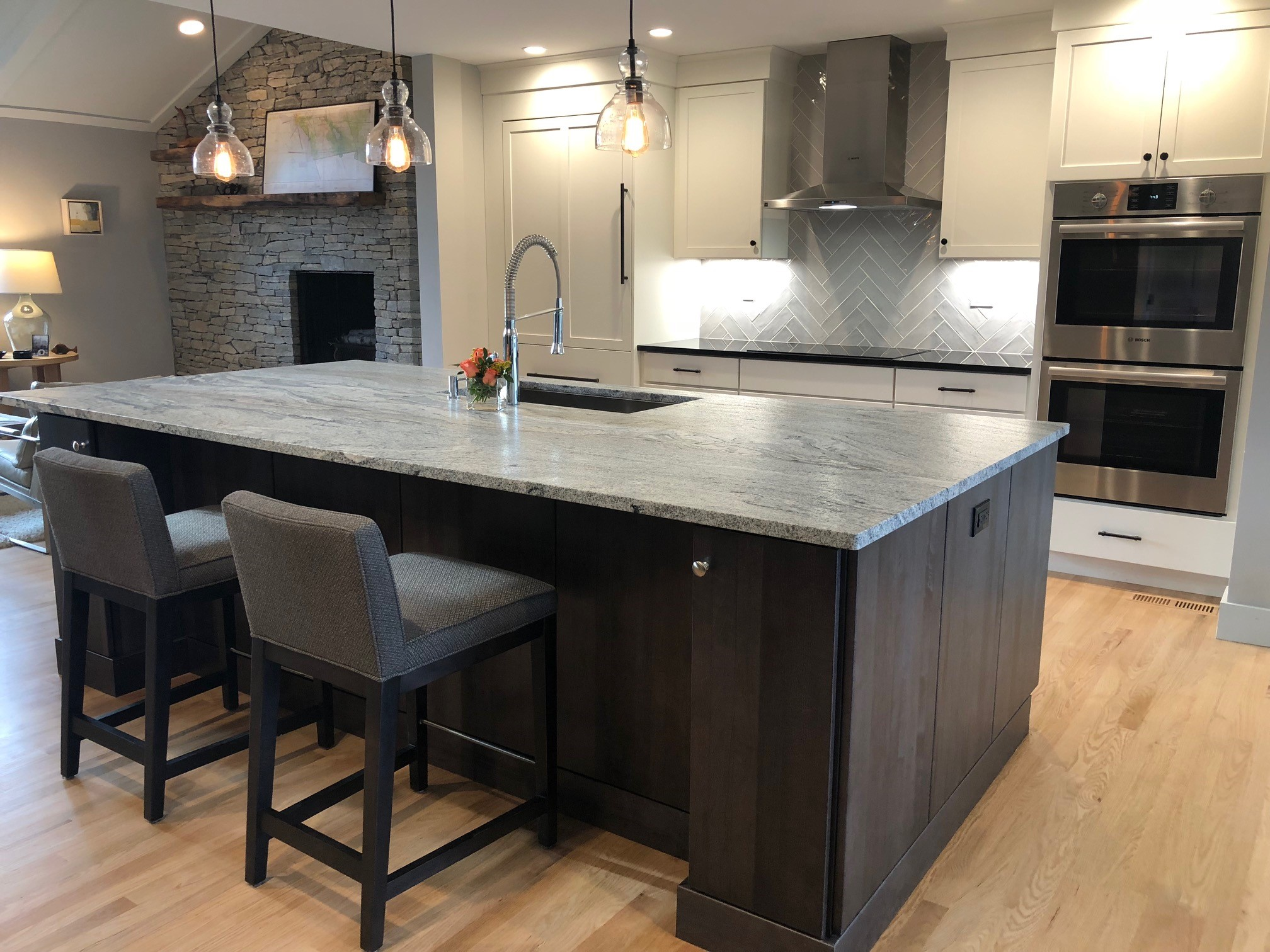 A new kitchen designed for the Figliuzzi/Philips home in West Suffield
