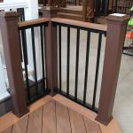Trex Railing Transcend Post Sleeve in Vintage Lantern with Black Aluminum Square Balusters