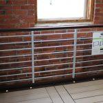 Trex Railing Signature Rod Rail in Bronze with Aluminum Horizontal Platinum rods