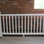 Trex Railing Transcend Crown Top Rail in White with Square Composite White Balusters