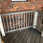Trex Railing White Post Sleeve, Composite Square Gravel Path Balusters, Gravel Path 1×6 Rail Top