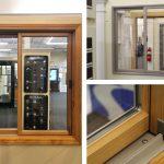Andersen 200-Series Gliding Window Sandtone Exterior, Pine Interior