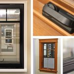 Andersen A-Series Casement Window Black Ext, Pine Int, SDL Permanent Grille w/Spacer