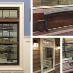 Andersen A-Series Double Hung Window Canvas Ext, Stained Int, SDL Permanent Grille