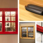 Andersen E-Series Casement Window Fire Engine Red Exterior, Pine Interior, SDL Permament Exterior and Interior Grille w/Spacer