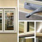 Jeldwen Siteline Clad Casement Window, French Vanilla Ext, Clear Int, SDL Permanent Grilles