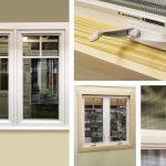 Jeldwen Premium Vinyl Casement Window, White Exterior, White Interior, SDL Permanent Grilles