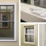 Jeldwen Brickmould Vinyl Double Hung Window, White, 5/8″ w/Contour Grille