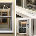 Jeldwen Siteline Clad Double Hung Window, White Exterior and Interior, Contoured Grille between the Glass