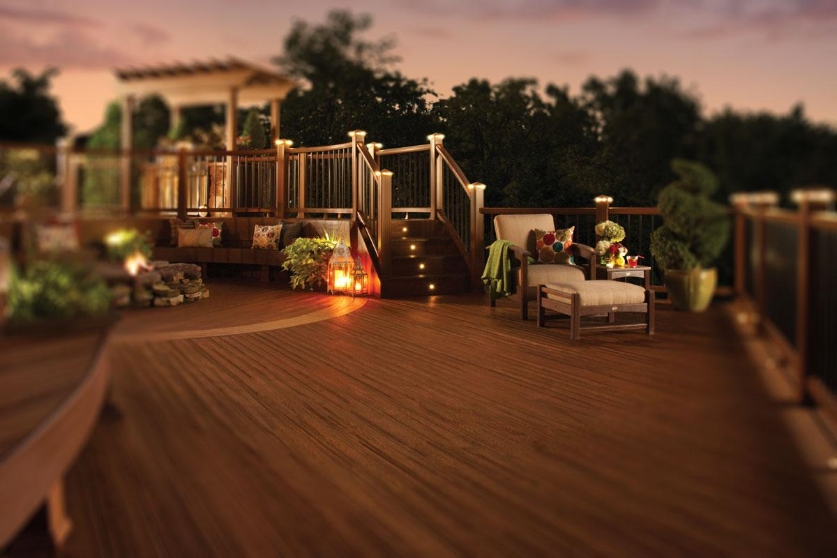 Night Life Deck - Trex Decking at Kelly-Fradet