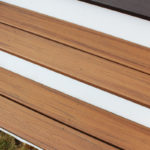 Trex Decking Transcend Tiki Torch with Trapease Color Matched screws and pvc white trim