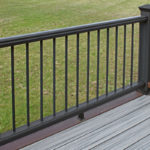 Trex Railing Transcend Crown Top Rail in Black with Round Aluminum Black Balusters