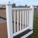 Trex Railing Transcend Crown Top Rail in White with Transcend Square Balusters in White