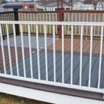 Trex Railing Signature Aluminum Rail in White with Aluminum Square Balusters in White