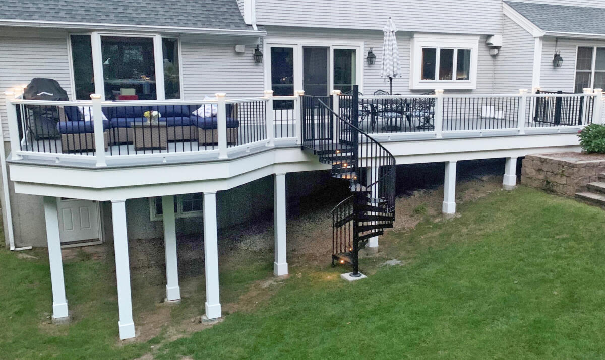 Maple Leaf Carpentry builds a new deck in Somers, CT
