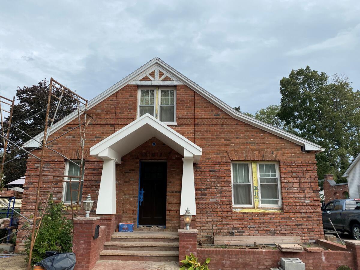 Corri Builders, LLC builds a custom portico in East Longmeadow, MA