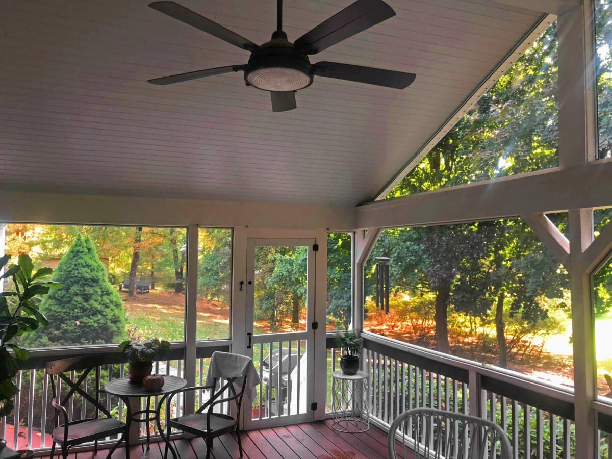 A New Cozy Screened in Porch in West Suffield, CT.  Built by Mark Roy