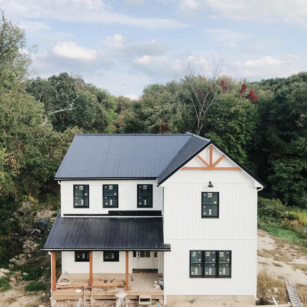 Homeowner in Westfield, MA builds a new Modern Farmhouse