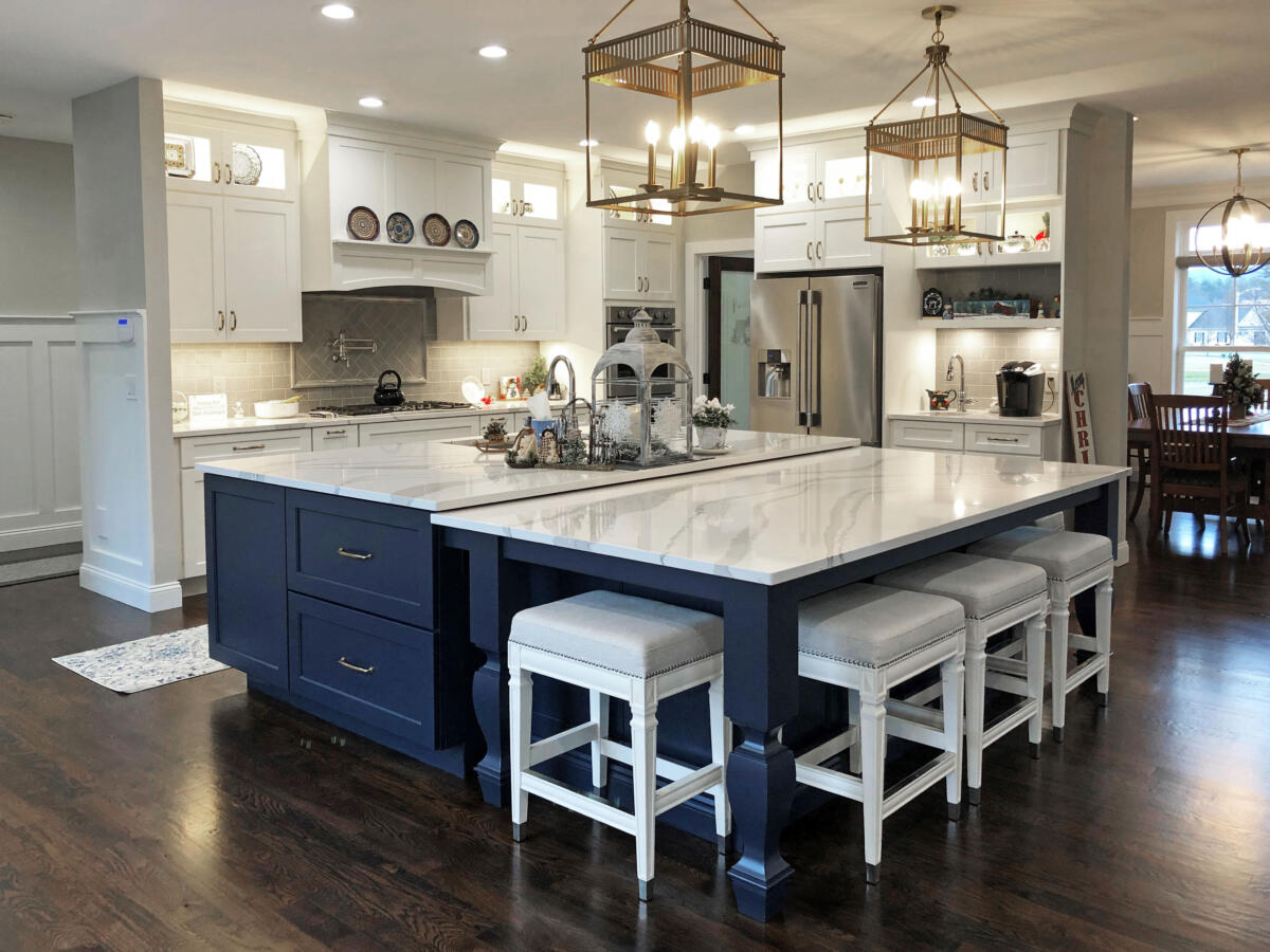 A Spacious New Kitchen by Francis Wheeler Construction for the Buell Family in Westfield, MA