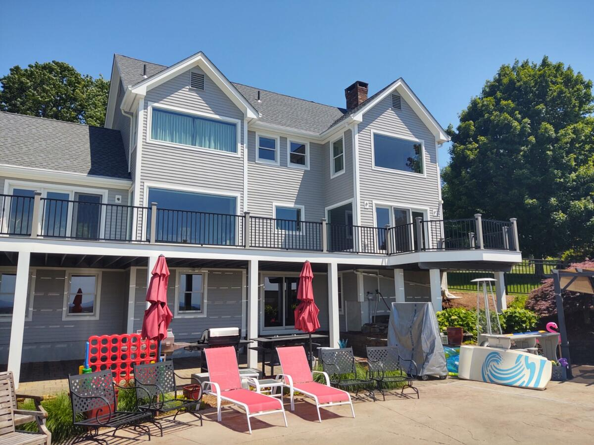 A spacious new Trex Deck with amazing views in Somers, CT