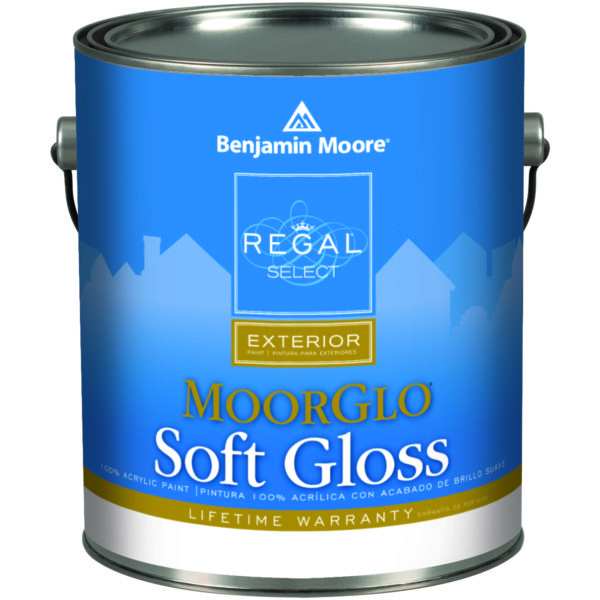 MOORGLO SOFT GLOSS EXTERIOR PAINT