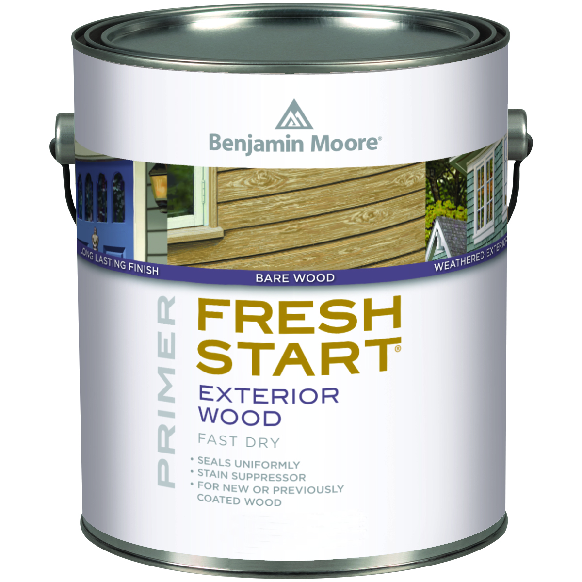 W103 01 Gallon White Moorgard Low Lustre Exterior Paint