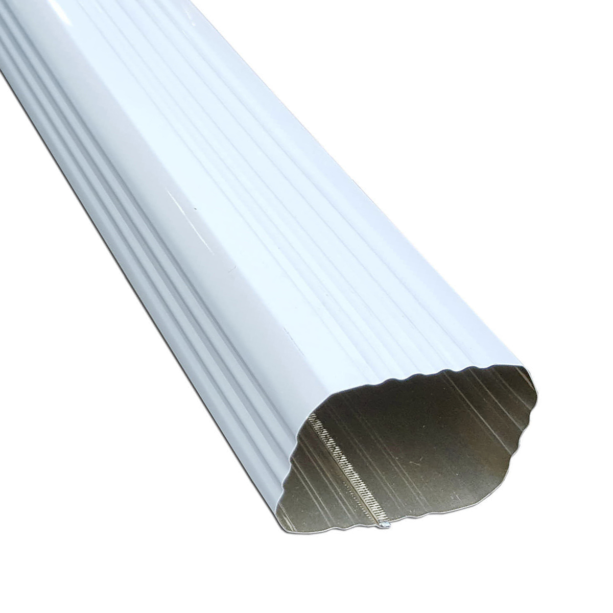 Down Spout 2X3 Sq. Conductor Pipe Wh