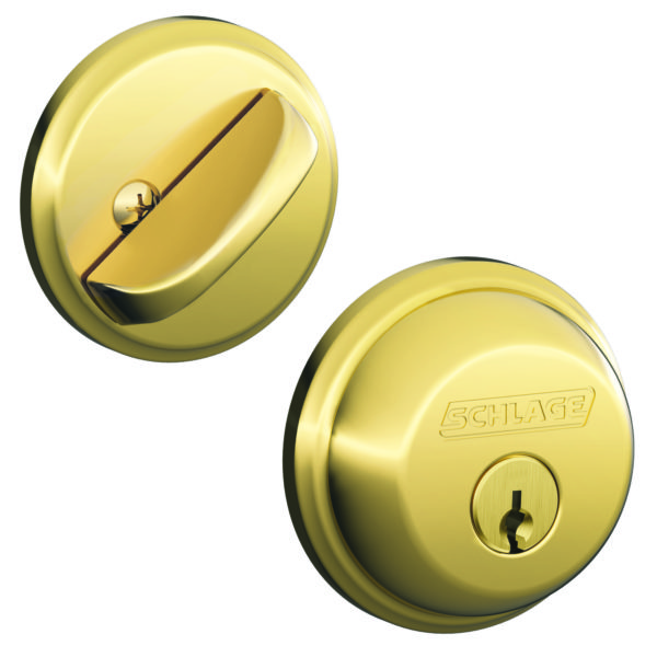 DEADBOLT BRIGHT BRASS BOX PK SINGLE CYL