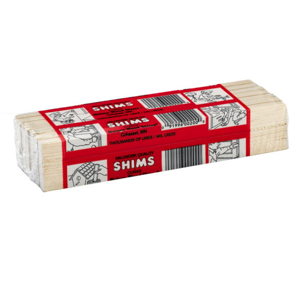 WOOD-SHIMS/ PKG OF 12 SHIMS
