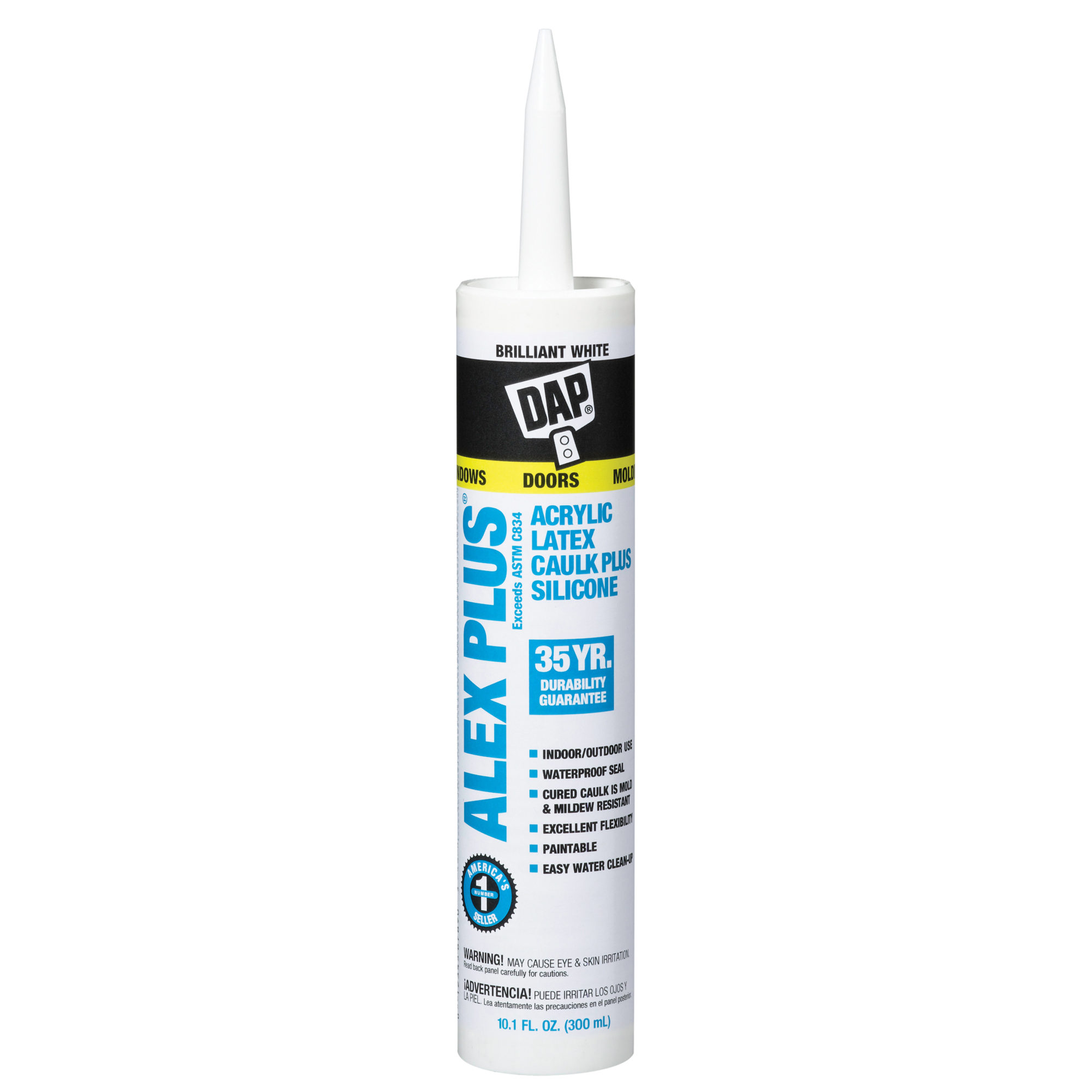 ALEX PLS ACRYLIC LATEX CAULK SILICONE WH