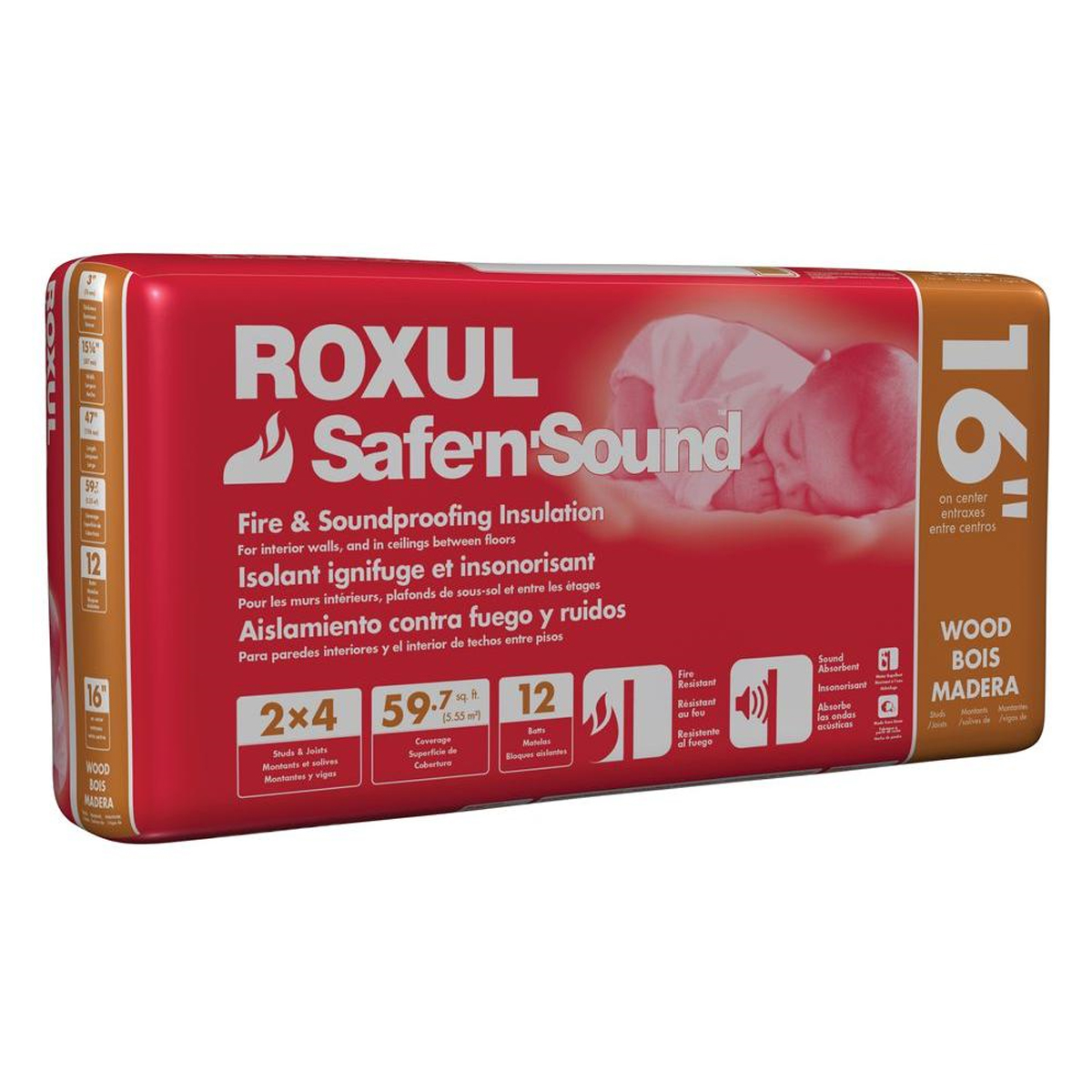 ROXUL UNFACED SOUNDPROOFING ORANGE