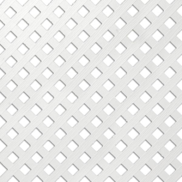 4 X 8 White Vinyl Privacy Lattice